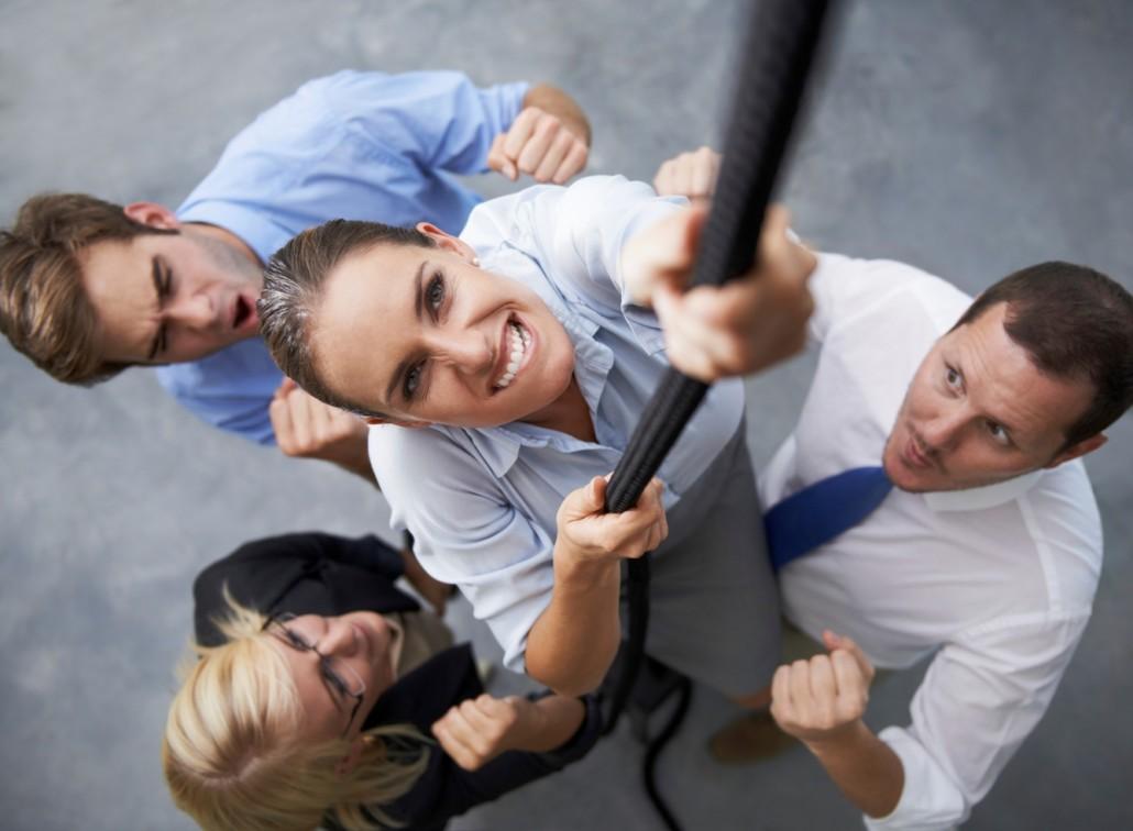Ejecutivos trepando cuerda | Coaching Ejecutivo